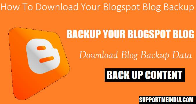 How to back up your blogspot blog