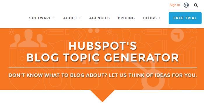 Hubspot's Blog Topic Generator