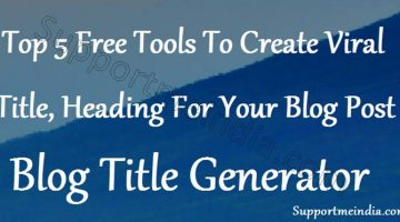 Top 5 Free Websites To Generate Blog Post Title
