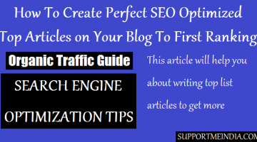 Write Search Engine Optimized Top Articlesll