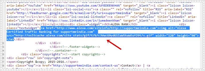 Alexa Widget Image Code