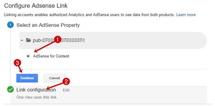 Configure Adsense Link