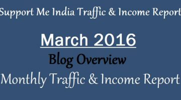 Support Me India Income Report March 2016
