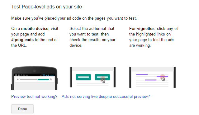Test Page-level ads on your site