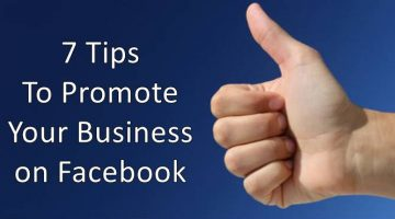 7 Tips to promote your business on facebook
