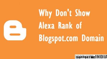 Blogspot.com Ki Alexa Rank Show Na Hone Ki Jankari