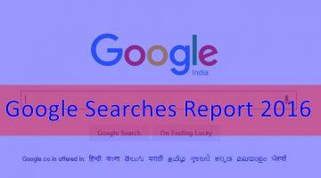 Google Searches Report 2016