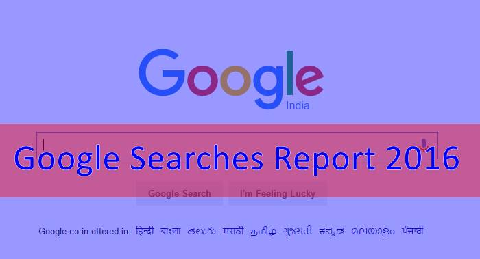 Google Searches Report 2016
