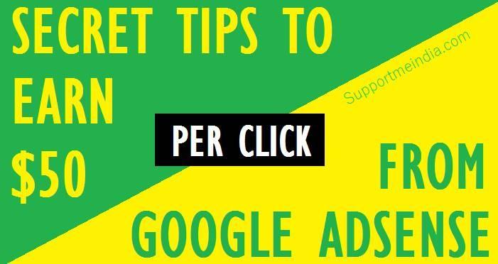 Google Adsense Se 1 Click Par $10 To $50 Kaise Kamaye