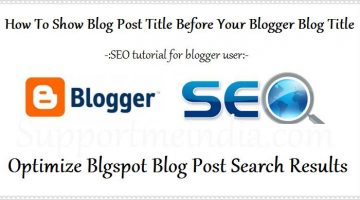 Optimize Your Blogger Blog Post Search Results