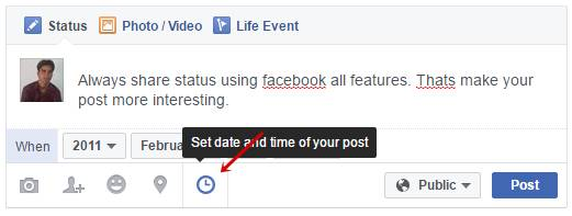 Set date and time of your post