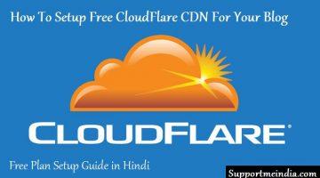 Website Ke Liye Free CloudFlare CDN Kaise Setup Kare
