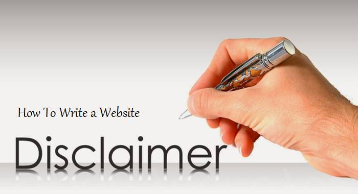 write a disclaimer for your blog