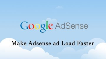 Make Adsense ad Load Faster