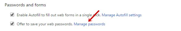 Manage Password