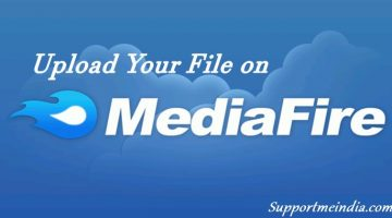Upload your file on Media Fire