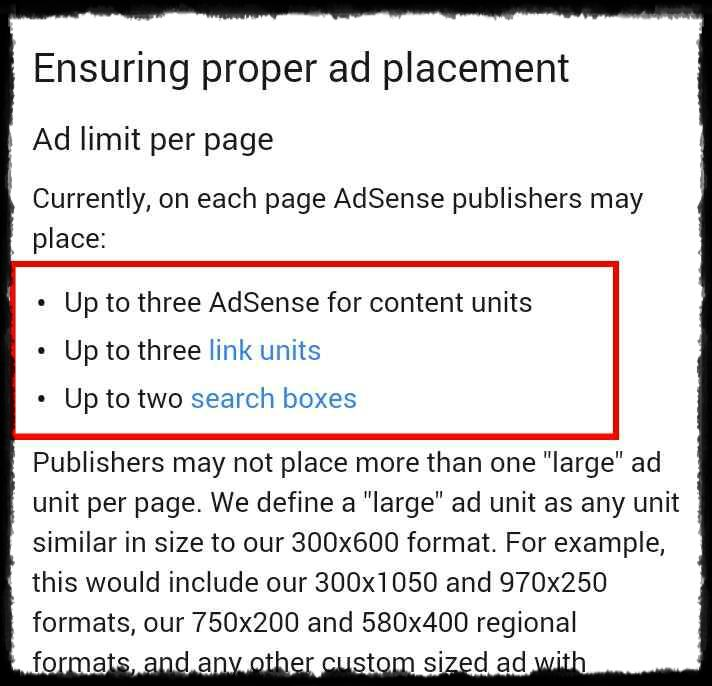 Adsense Old Per Page Ad Unit Limit