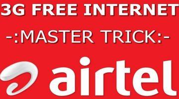 Airtel 3G 4G free internet
