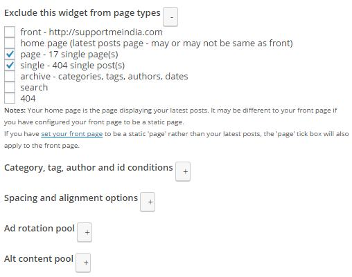 Widgets ad feature