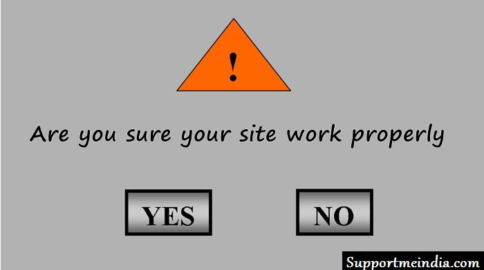 Are you sure your site work properly