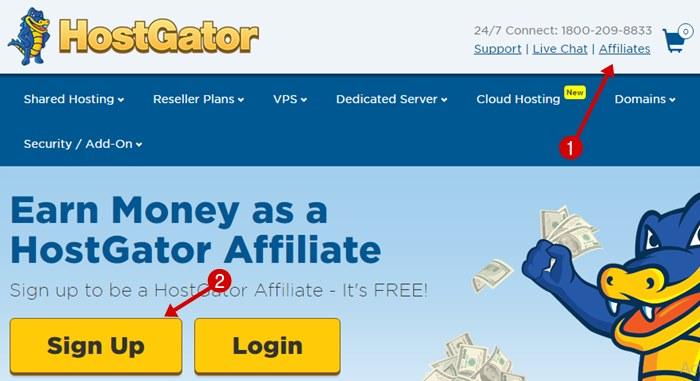 Hostgator india affiliate program sign up
