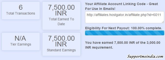 Hostgator india earnings