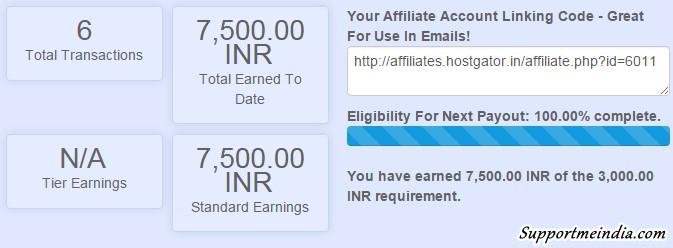 Hostgator india earnings