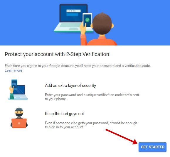 Protect your account with 2-Step Verification