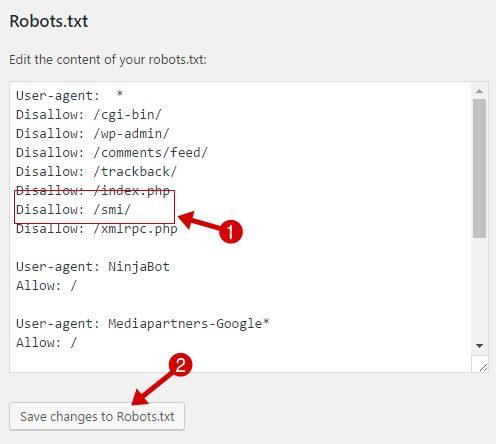 block link cloak by robots.txt