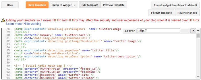 replace http with https