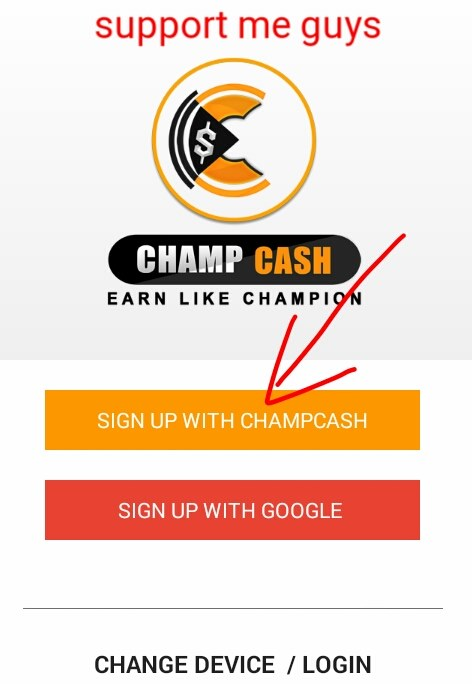 champcash sign-up