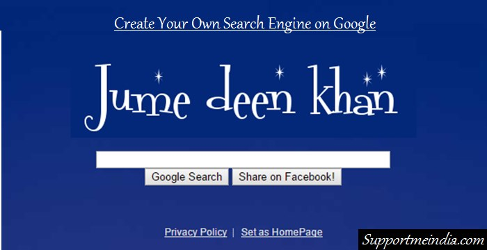 Create your own search engine on google