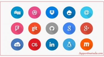 Social Media Icon CSS Hex Color Code List
