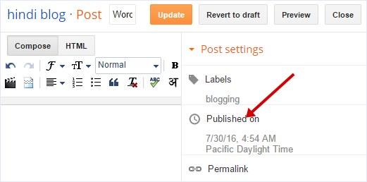 Update Blogger posts