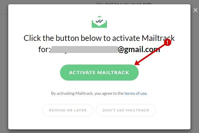 Activate mailtrack