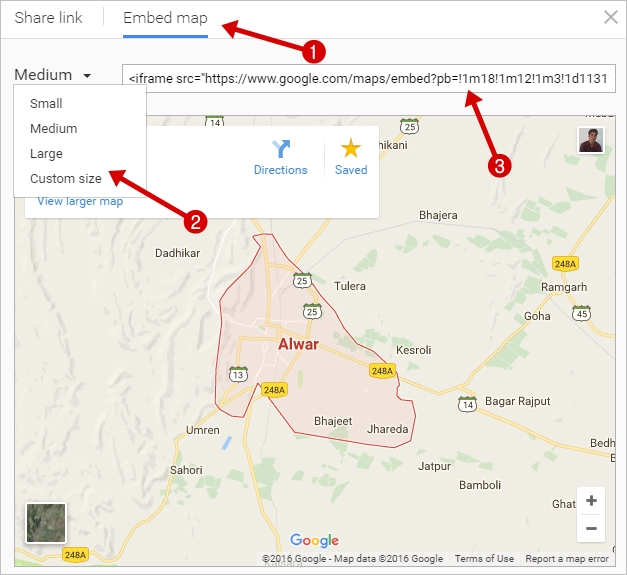 Choose embed map