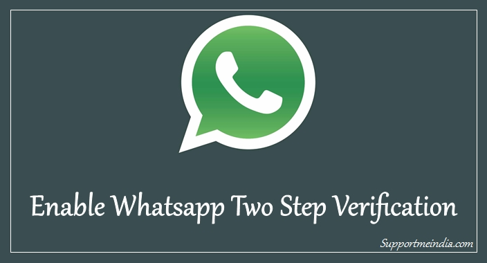 Enable Whatsapp 2 step verification