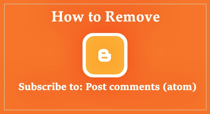 remove subscribe to post comments (atom) link