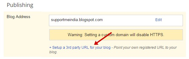 Setup a 3rd party URL for your blog