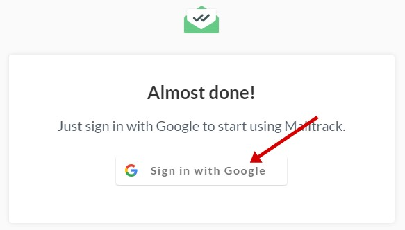 mailtrack sign in with gmail