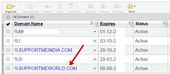 Domain setting