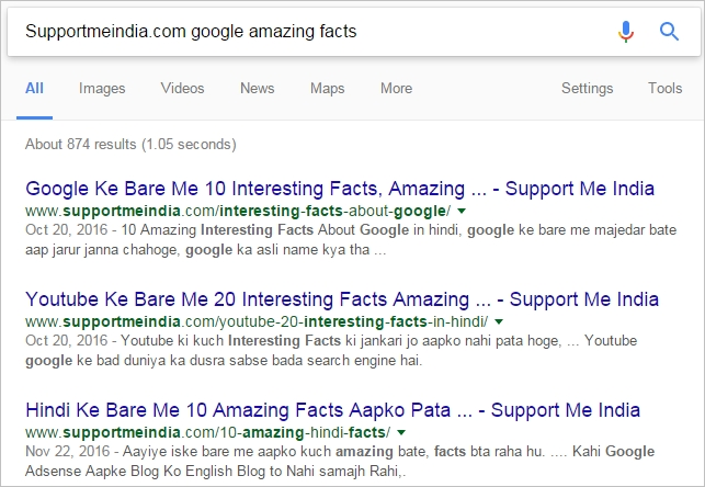 Search most keyword in any website