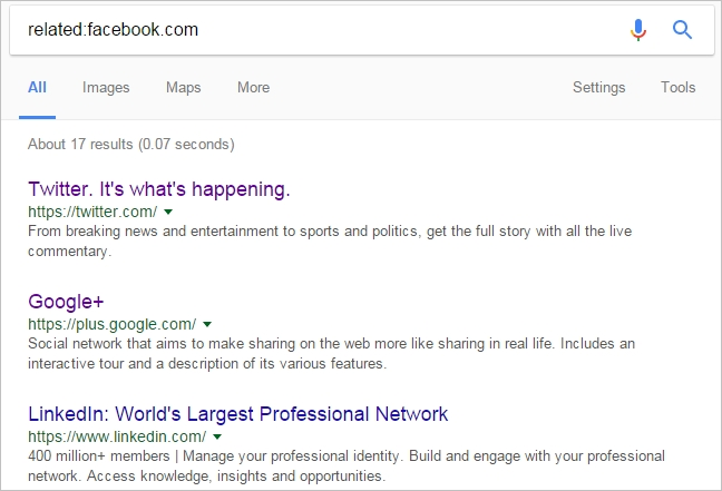 find related websites