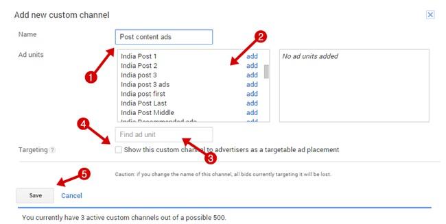 Create custom channels