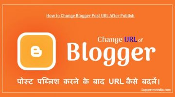 How to change blogger post URL after publish