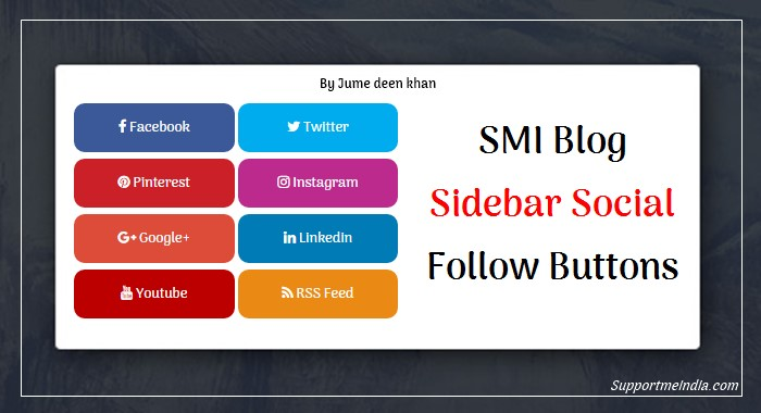 SMI Blog Sidebar Social Media Follow Button Icons