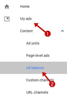 AdSense ad balance feature