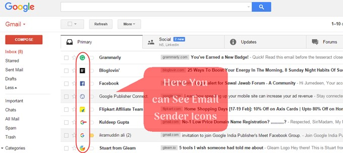 Email Sender Icons