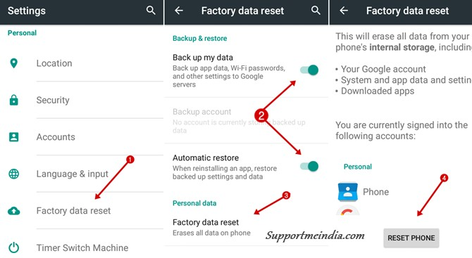 Factory Reset Mobile