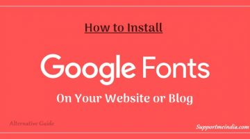 How to install google we fonts in your site